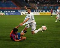 Szekesfehervar - jogo de futebol kaposvar Foto de Stock Royalty Free