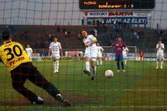 Szekesfehervar - kaposvar soccer game Stock Image