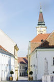 Szekesfehervar Town in Hungary. Old Street View Stock Photos