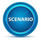 Szenario-Augapfel-blauer runder Knopf lizenzfreie abbildung
