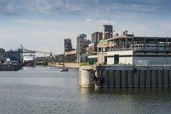 Szene alten Hafens Montreals lizenzfreie stockbilder