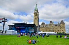 Szene auf Parlaments-Hügel Lizenzfreies Stockbild