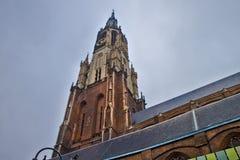 Szene in Delft, Holland stockbilder