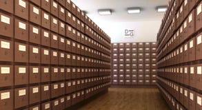 Szene der Bibliothek 3d CG lizenzfreie abbildung