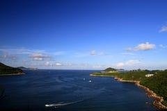 Szene an der klaren Wasser-Bucht, Hong Kong Stockbild