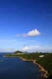 Szene an der klaren Wasser-Bucht, Hong Kong Stockfoto