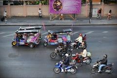 Szene der verkehrsreichen Straße Stockfotos
