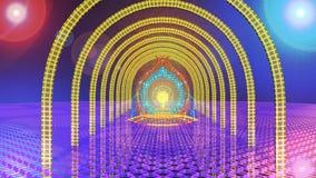 Szene der virtuellen Realität lizenzfreie abbildung
