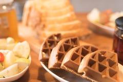 Szene des Frühstücks Stockfotos