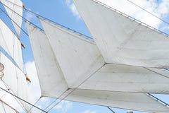 Szene des Segelboots des Hafens stockfotos