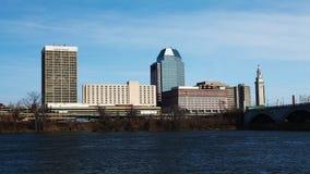 Szene des Springfields, Massachusetts Skyline lizenzfreie stockbilder