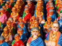 Szene du marché dans l'Inde Images libres de droits
