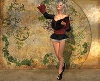 Szene - ein schönes Mädchen nahe der Wand Lizenzfreies Stockfoto