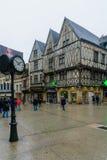 Szene Hauptstraßen-rue de la Liberte in Dijon Stockbild