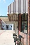 Szene Kleinstadt-Amerikas Main Street Lizenzfreie Stockfotos