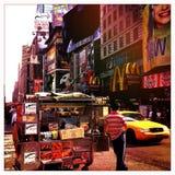 Szene in Manhattan stockbilder