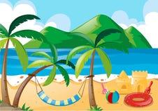Szene mit Strand und Ozean Lizenzfreies Stockbild