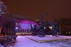 Szene nationalen Theaters Bukarests Nacht lizenzfreie stockbilder