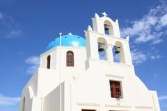 Szene in Santorini in Griechenland Stockbild