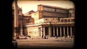 Szene Vatikans im Jahre 1955 genommen stock footage
