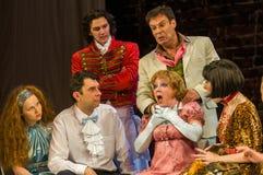 Szene vom Theaterspiel Stockbilder