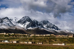 Szene von Ganzi-Grafschaft stockfotografie
