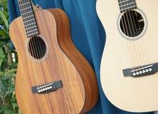 Szene von zwei Gitarren stockfotografie