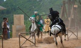 Szenen des mittelalterlichen Marktes von Obidos Lizenzfreies Stockfoto