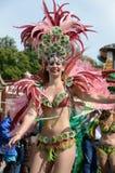 Szenen des Sambafestivals stockfotos