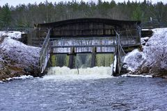 Szenen am Schwan-Nebenfluss Allegan County Michigan lizenzfreie stockfotografie