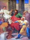 Szenen vom Leben von St Paul: Die Blendung des falschen Prophets Stockbild