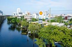 Szenen von Bangkok Thailand während seines falschsten floo stockfoto