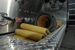 Szenen von einem US-Feuer-Haus des Mittelwestens stockfotografie
