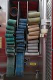 Szenen von einem US-Feuer-Haus des Mittelwestens Lizenzfreie Stockbilder