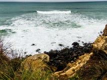 Szenen von Tarnaki-Strand, Nordinsel, Neuseeland Stockbild