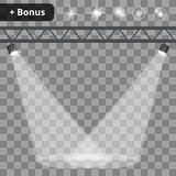 Szenenbeleuchtung, transparenter Effekthintergrund Stockfotos