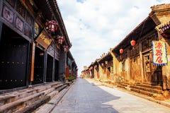 Szenespeicher und Straßen Pingyao stockbild