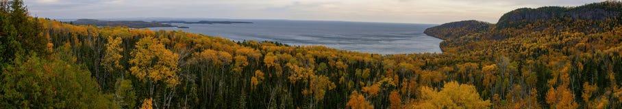 Szenisch übersehen Sie großartiges Portage Stockfoto