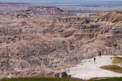 Szenisch übersehen Sie von der Wüstenschlucht in South Dakota lizenzfreies stockbild