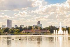 Szenisch von Denver Colorado-Skylinen Lizenzfreies Stockfoto