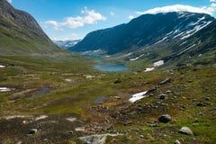 Szenische alpine Landschaft in den norwegischen Bergen stockfotografie