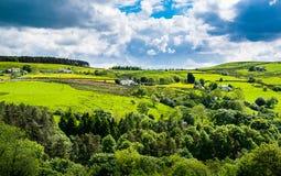 Szenische Ansicht über englische Landschaft Stockbilder
