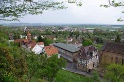 Szenische Ansicht über Frankenberg Eder Hesse lizenzfreies stockbild