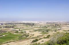 Szenische Ansicht über Malta-Landschaft Stockfotografie