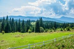 Szenische Ansicht der Berge Karpaty, Ukraine lizenzfreie stockbilder