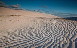 Geplätscherte Sanddünen Stockbilder