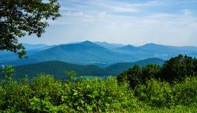 Szenische Ansicht des blauen Ridge Mountains- und Gans-Nebenfluss-Tales lizenzfreies stockfoto