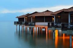 Szenische Ansicht des Hafens Dickson, Malaysia Stockfotos