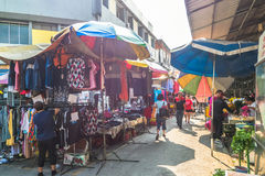 Szenische Ansicht des Morgenmarktes in Ampang, Malaysia Stockbilder
