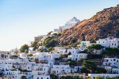Szenische Ansicht des traditionellen griechischen Dorfs Plaka, Griechenland stockbilder